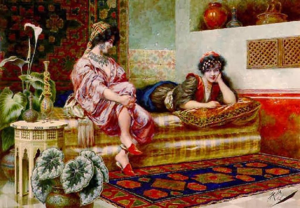 3 giuseppe-aureli-italian-1858-1929-idle-hours-in-the-harem.jpg