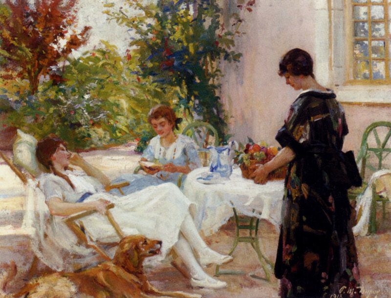 +++%09 Paul Michel Dupuy (1869-1949)   teatime-large.jpg