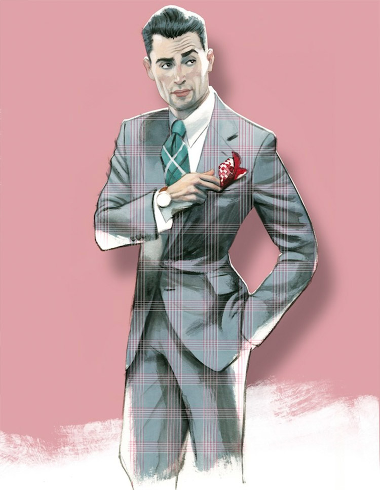 Men's Fashion Illustrations by Fernando Vicente