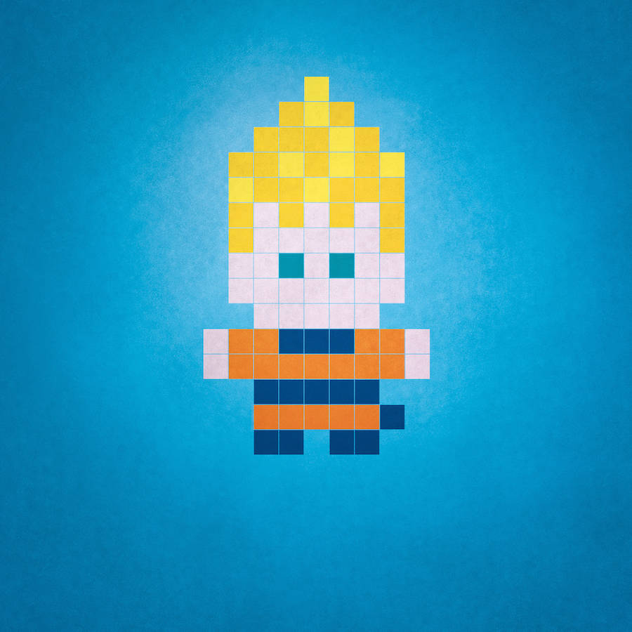 Funny Mini-Heroes in Pixel Art