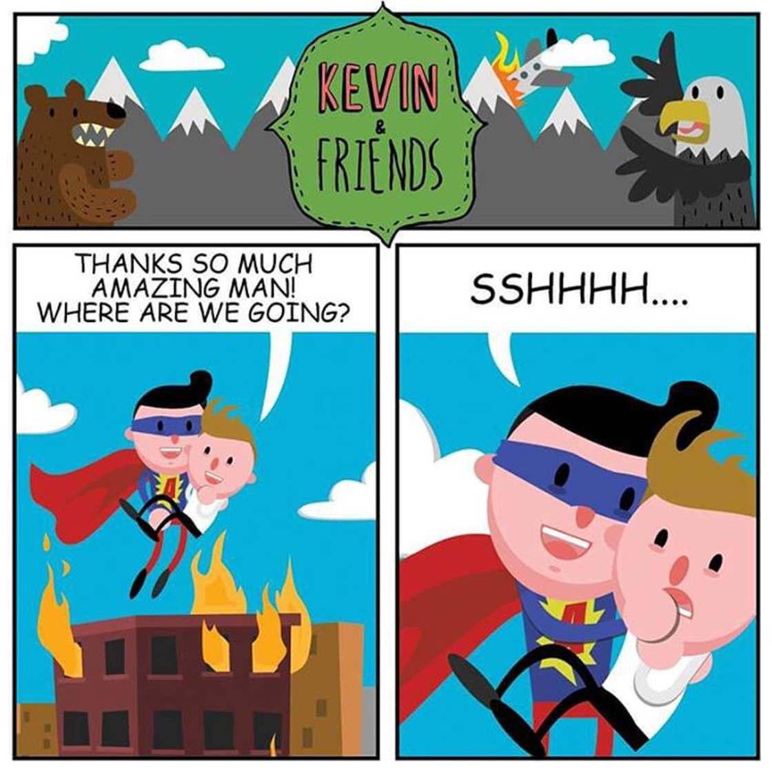 Kevin est optimiste - Des illustrations trash et bourrees d'humour noir