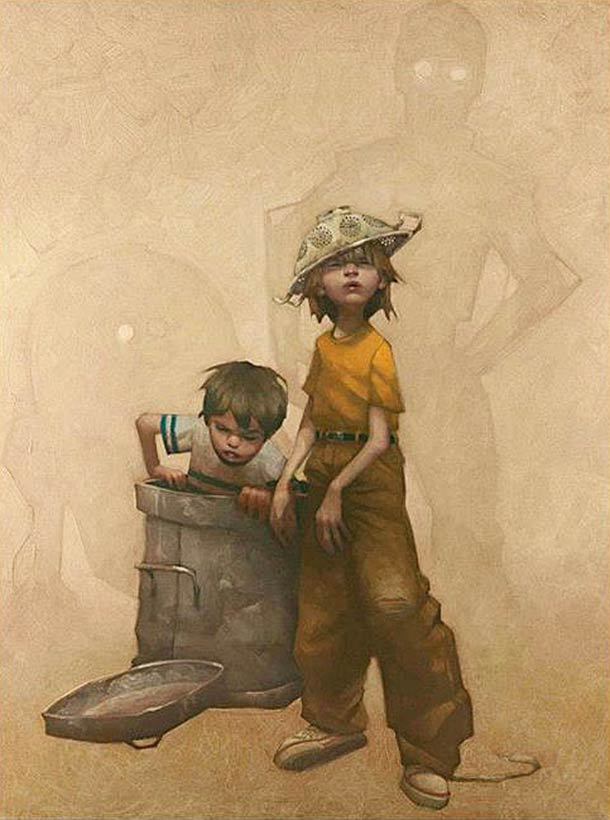 L'Enfance et ses heros - 23 peintures de Craig Davison