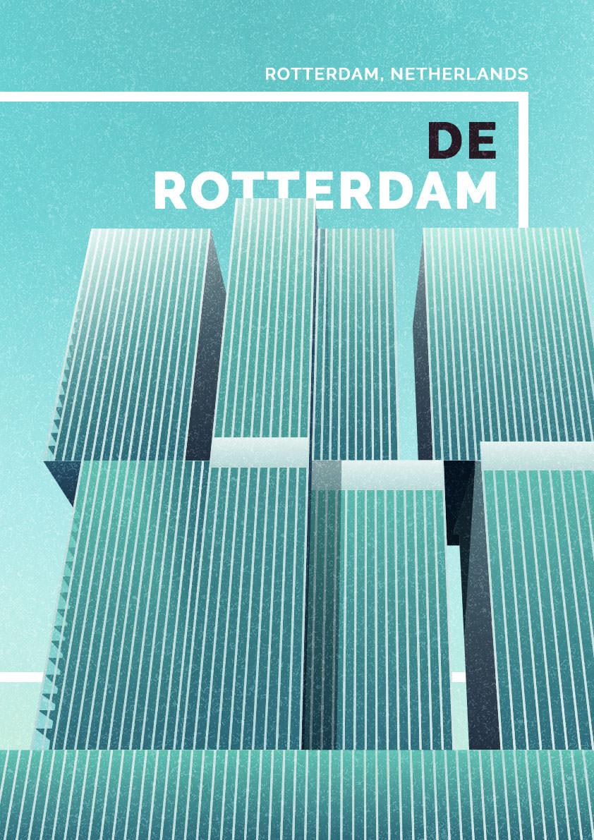 Dazzling Illustrations of Brutalism Architecture