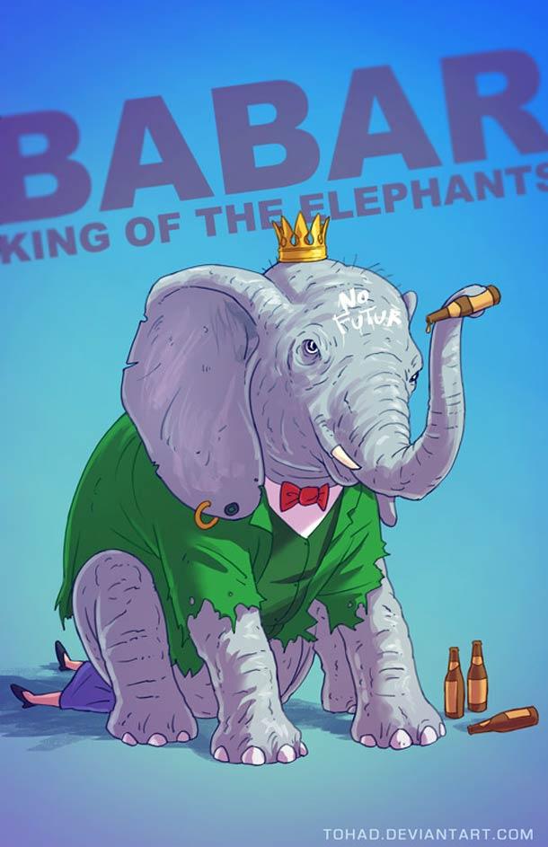 Les heros de notre enfance version Badass Fanarts – 23 nouvelles illustrations de Tohad