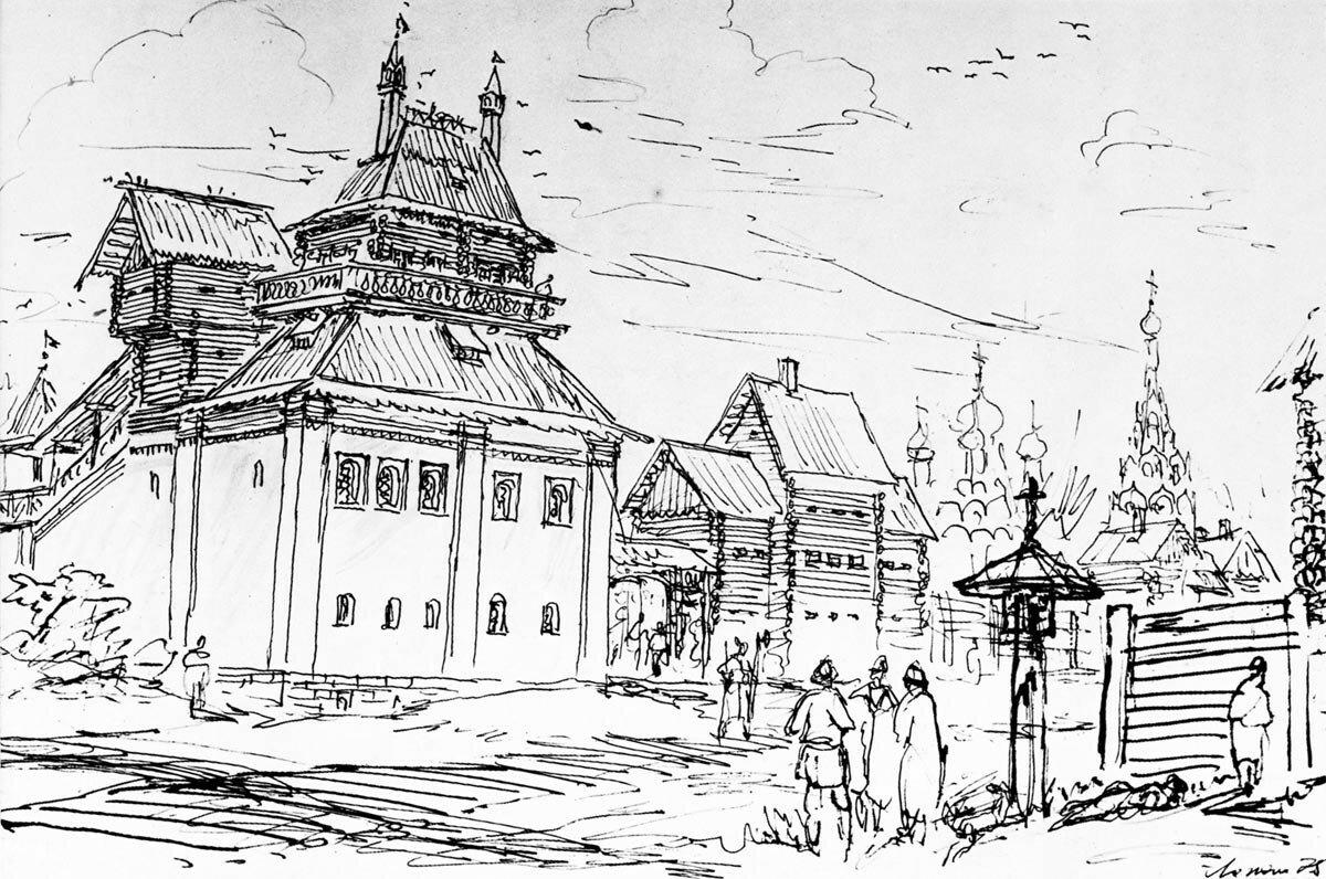 Палаты Хамовного двора. XVII в. (по материалам А. Векслера).jpg
