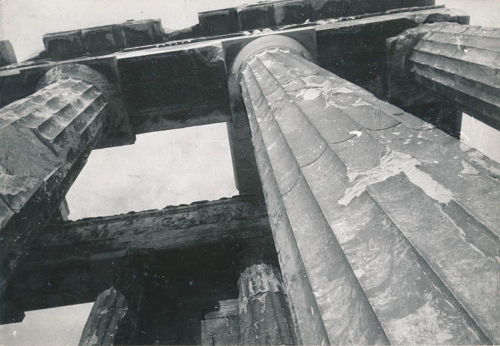 1950. Афины. Колоннады Парфенона