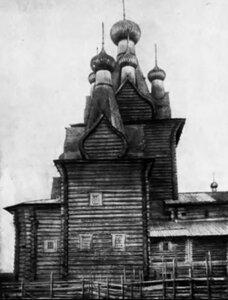 Окрестности Пинеги. Воскресенская церковь в Кевроле