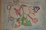 Михайлова Валерия (рук. Смирнова Ирина Андреевна) - Веселый снеговик