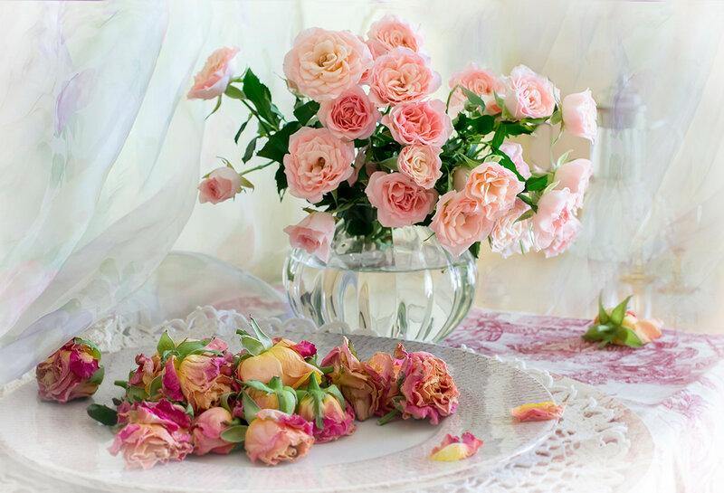 с розами не расставайтесь...))