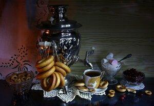 Вечерний чай с клюквой