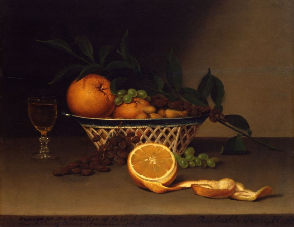 Рафаэль Пил. Натюрморт с апельсинами. 1818