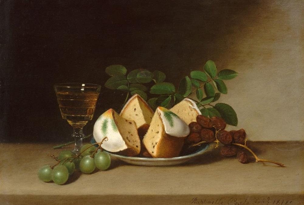 Рафаэль Пил. Натюрморт с кексом. 1818