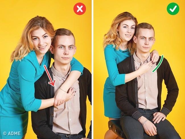 Вжелании обнять партнера ненаваливайтесь нанего всем телом иненаклоняйтесь сильно вперед. Также