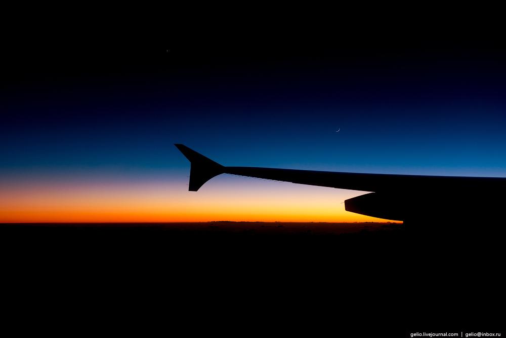 Вечерний пиар. Из окна самолёта - 2016