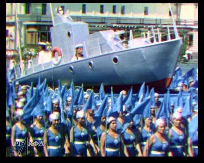 Цветная Москва в 1939 году