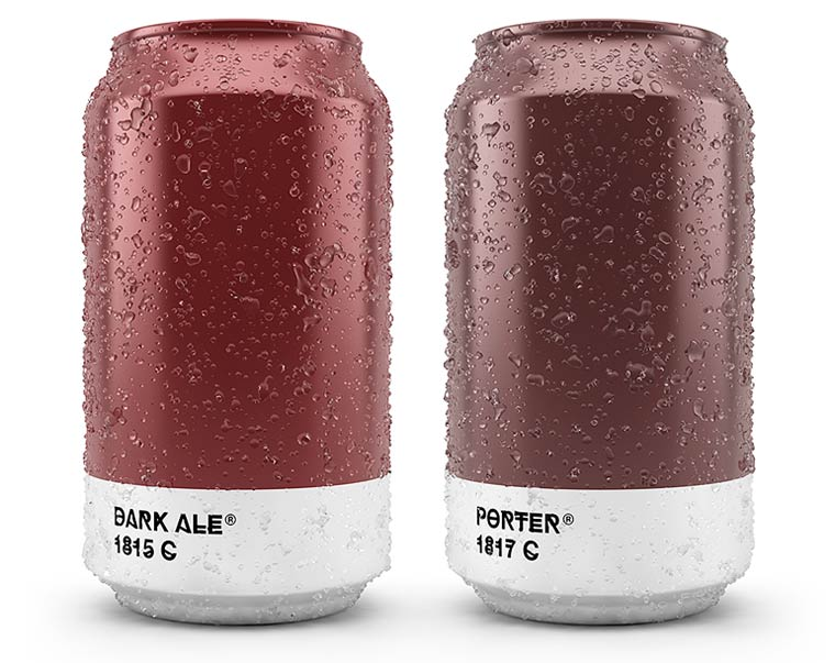 Beer Colors - Minimalist beer cans inspired by Pantone colors