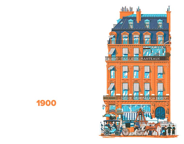 750 Years in Paris - An illustrator tells the story of Paris through the architecture