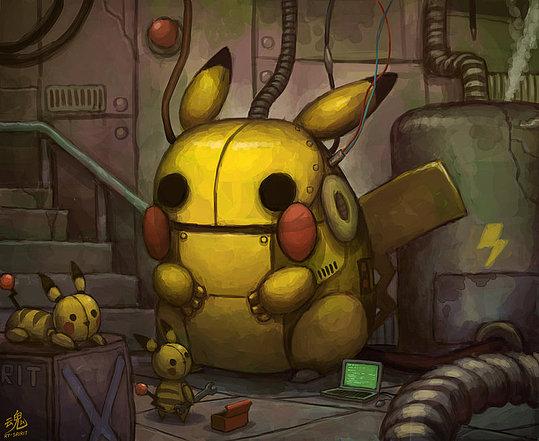 Pikachu Art by Ryan Shiu