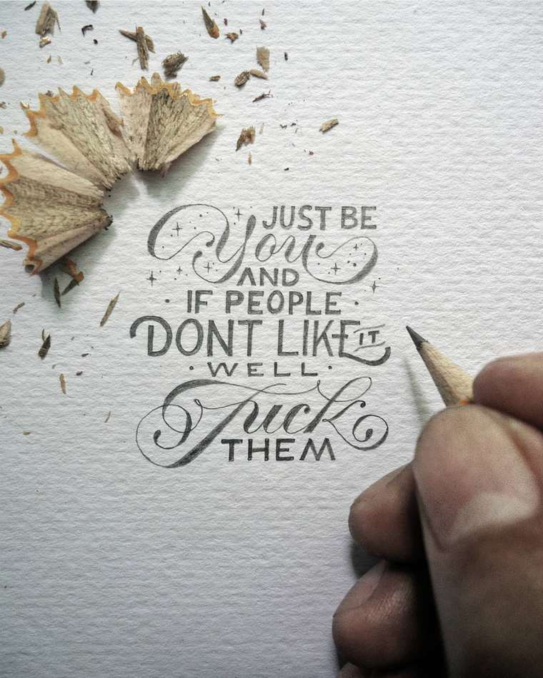 Miniature Typography - The beautiful creations of Dexa Muamar