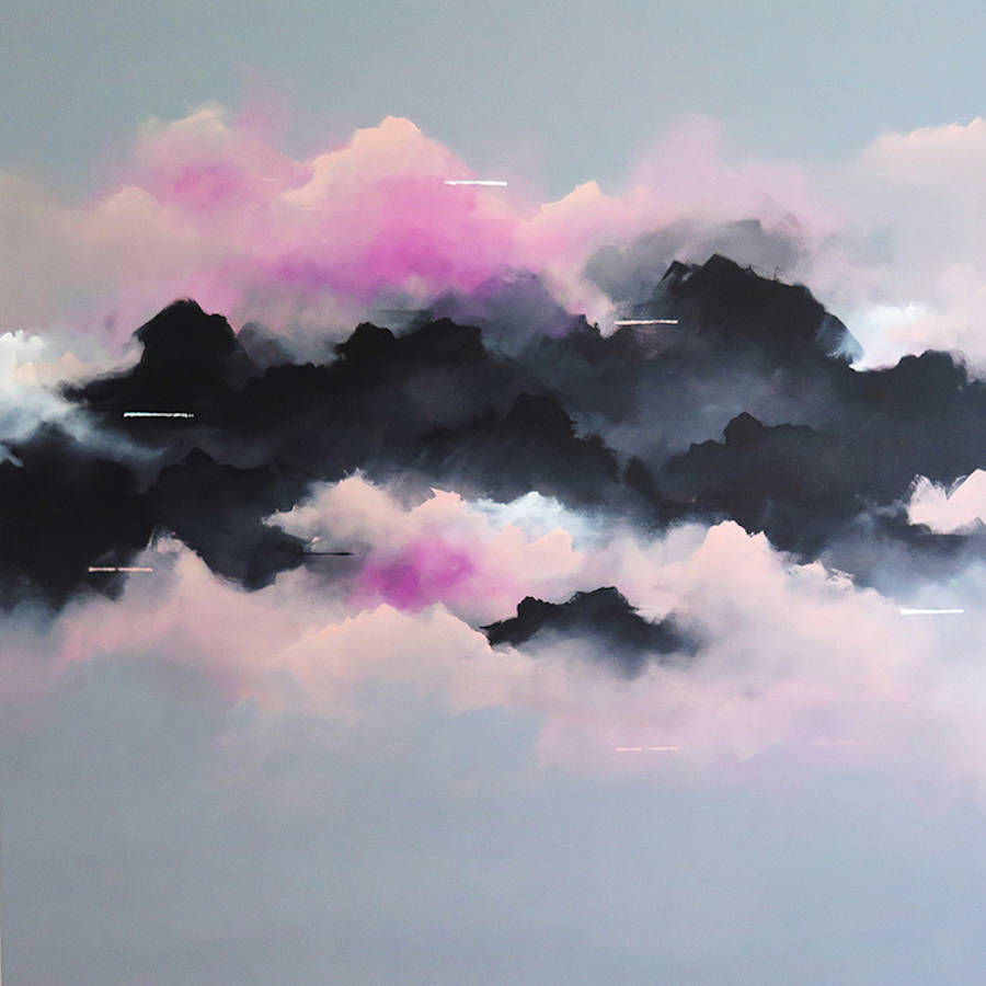 Dreamy Pink Clouds Paintings (9 pics)