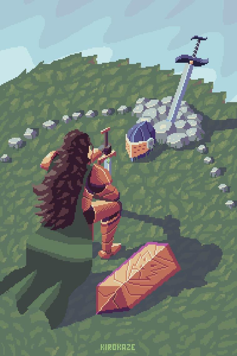 Pixel Art - Les jolis GIFs animes de Kirokaze