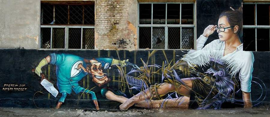 Street Art Works by Sasha Corban