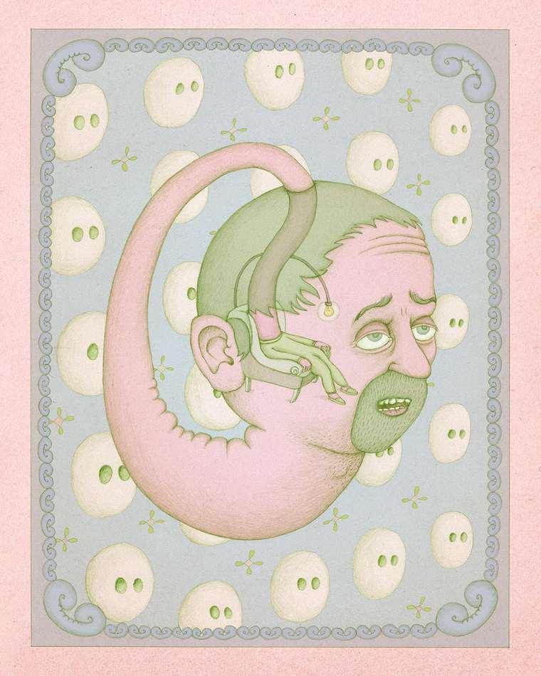 The strange surreal illustrations by Benedikt Notter