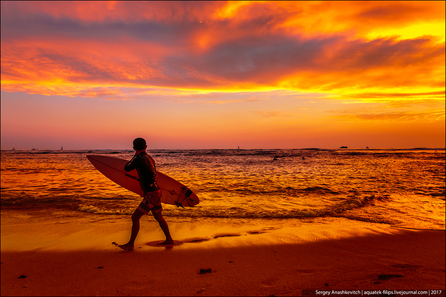 Закат на Гавайах