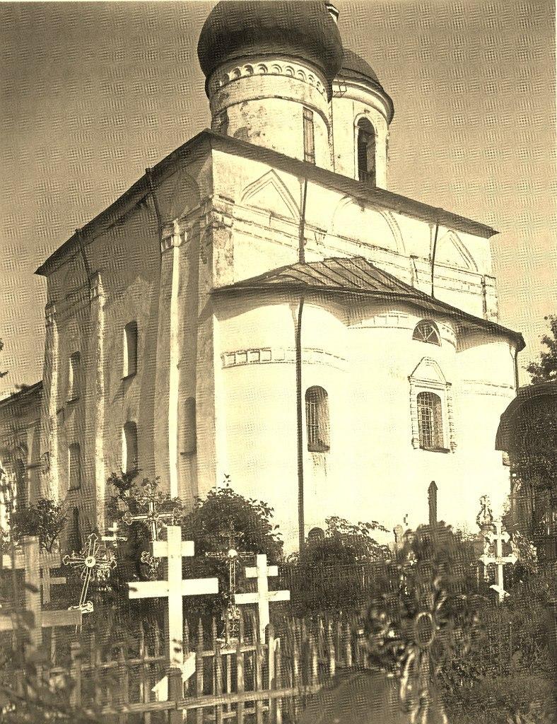 Спасо-Преображенский собор. Вид на четверик с юго-востока. 1917