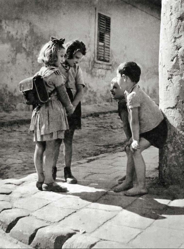 Boys and girls, Budapest 1955. Photographer_ Thomas (Tom) Veres, Hungary