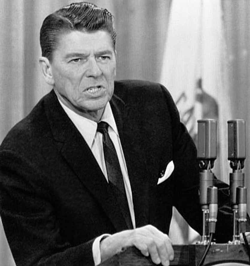 Декабрь 1967, Губернатор Рональд Рейган. Забастовка в Колледже штата  в Сан-Франциско
