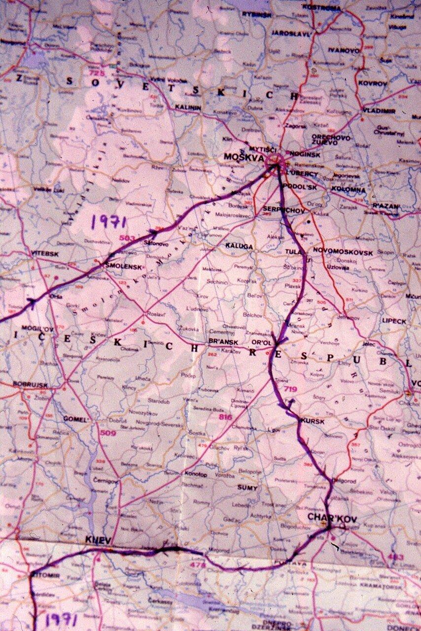 Карта, 1971 год