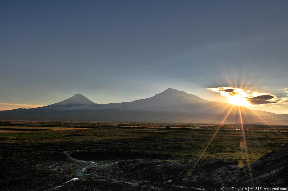 Армения. Арарат. Закат.