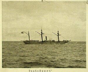 Крейсер II-го ранга Разбойник во время 2-го выхода соединенной эскадры из Чифу на учения