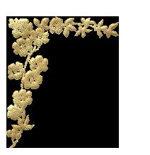 زوايا ذهبية مزخرفه للتصاميم