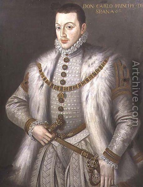 Алонсо Санчес Коэльо, Портрет дона Карлоса, сын короля Испании Филиппа II
