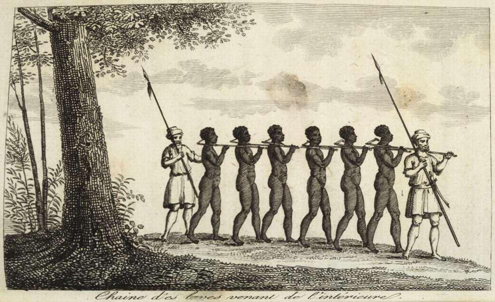 Работорговцев и захваченные ими рабы (Сенегал, 1780-е годы)