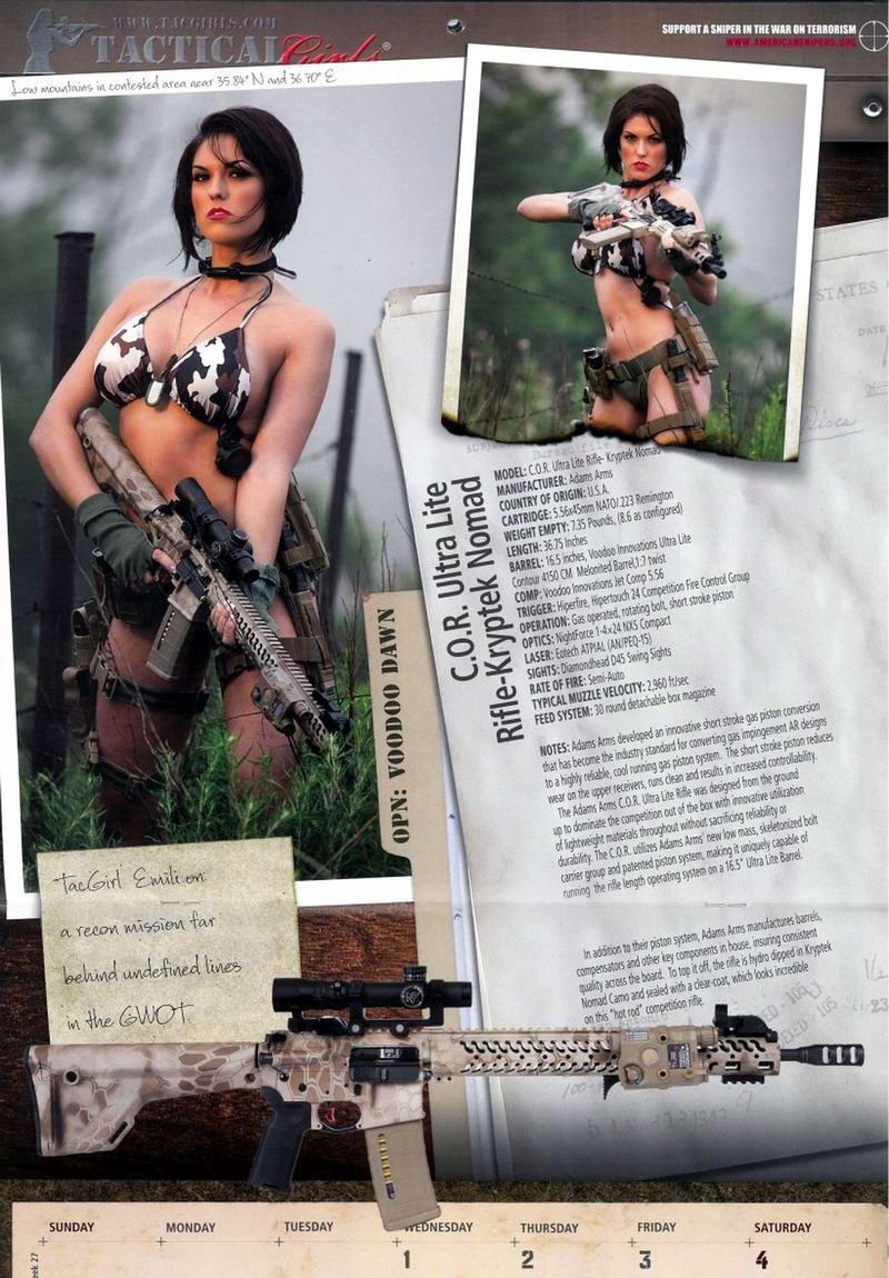 Стрелковый календарь Tactical Girls (19)