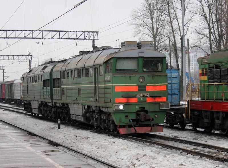2ТЭ116-1385 на станции Кушелевка