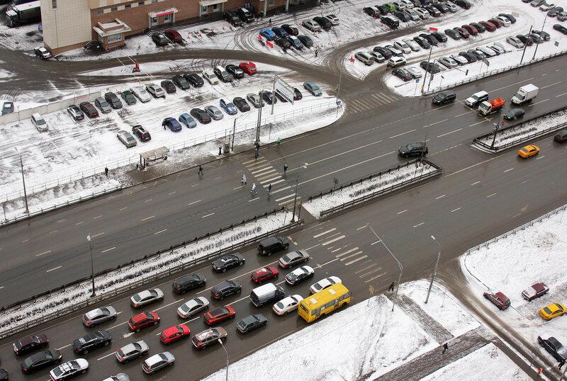 Пешеходный переход на Волоколамском шоссе