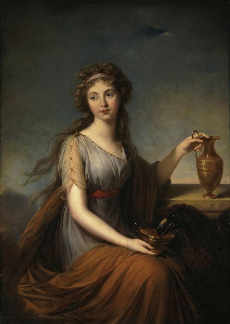 Элизабет-Луиз — Портрет Анны Питт в виде Гебы, Эрмитаж