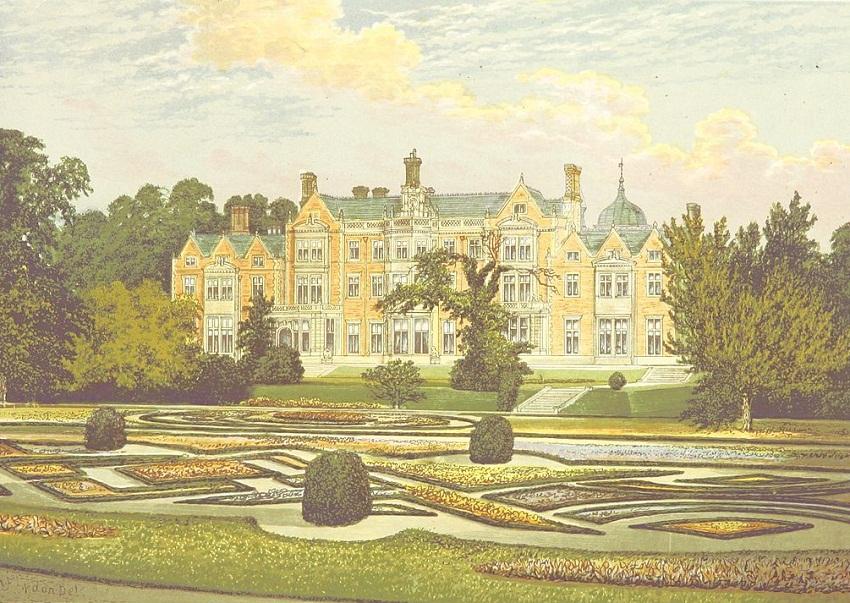 Sandringham дом в Норфолке, Англия, около 1880.