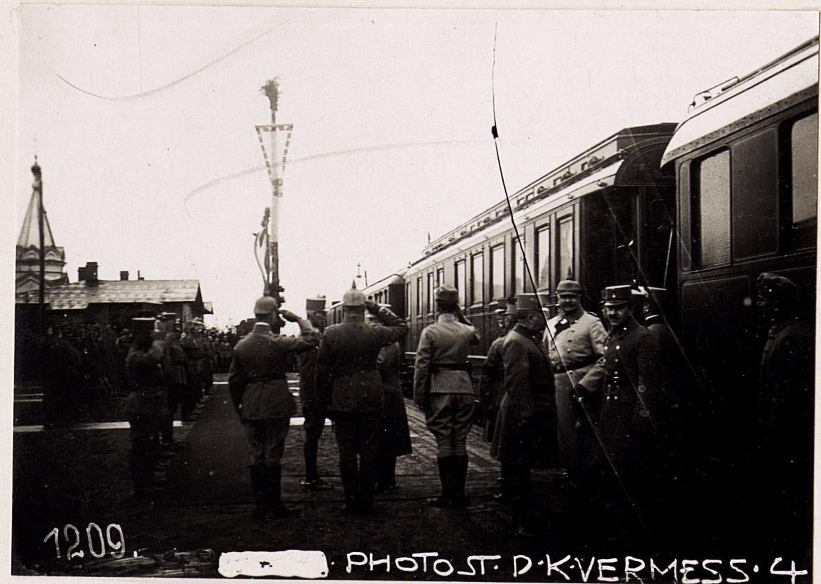 Посещение города австро-венгерским кайзером (26/II.1918.)