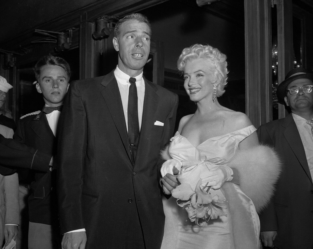 Joe DiMaggio with Marilyn Monroe