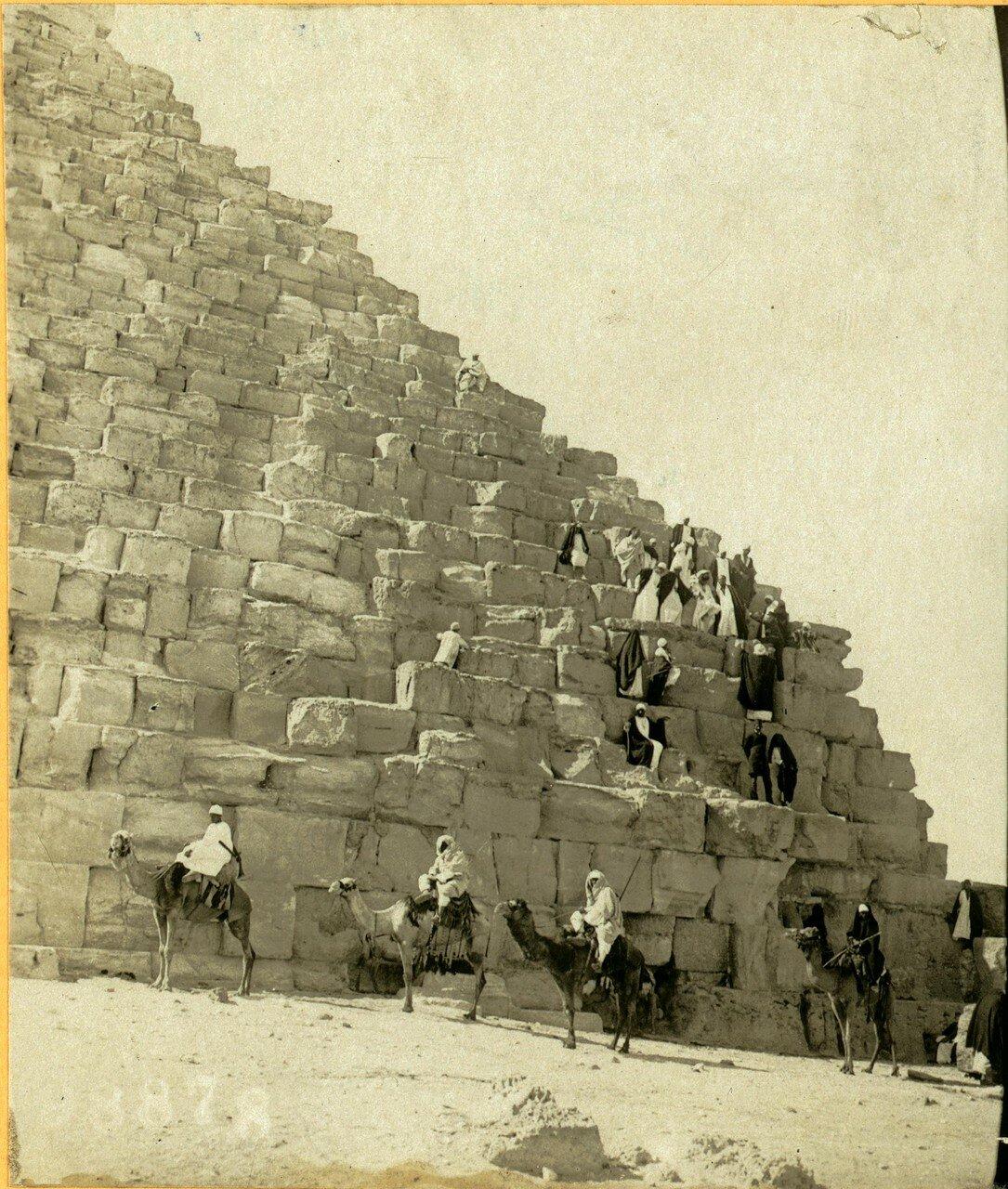Гиза. На пирамиде