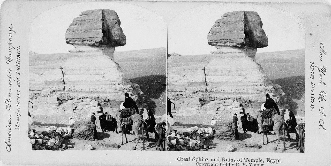 Гиза. Великий Сфинкс и руины храма