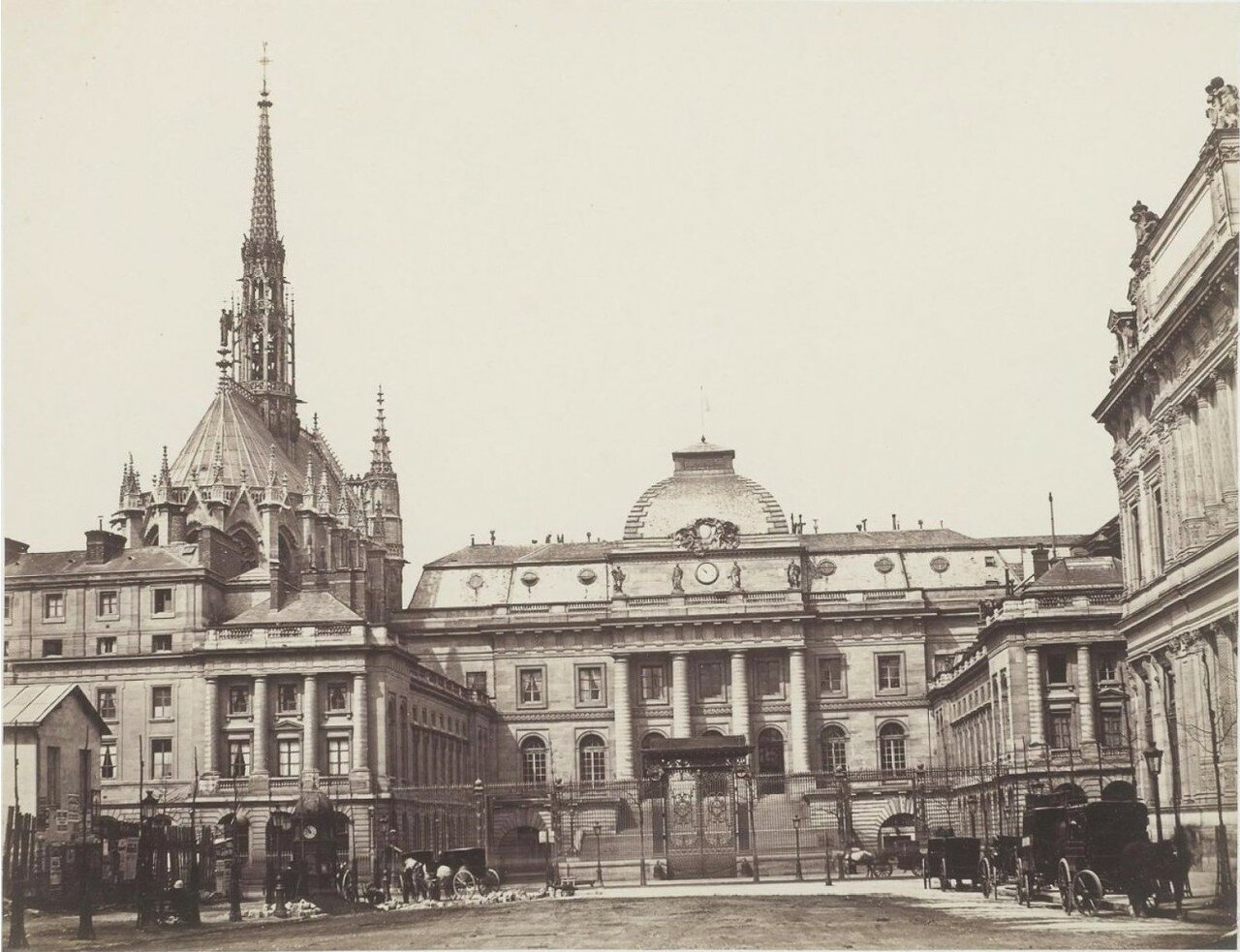 1880. Здание суда и Сент-Шапель