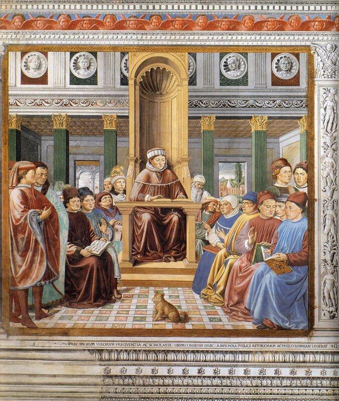006-Бл.Августин преподает в Риме.jpg
