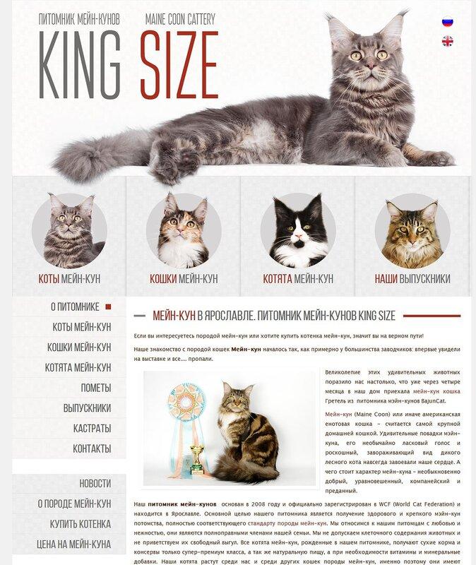 как сделать сайт для питомника кошек