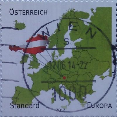 австрия 2012 зеленая карта европы